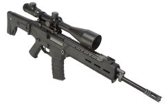 Assault rifle isolated Stock Photo
