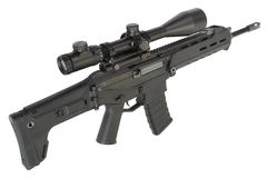 Assault rifle isolated Stock Image