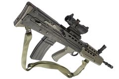 Assault rifle L85 Royalty Free Stock Images