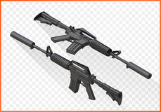 Assault rifle m4a1 isometric royalty free stock photo