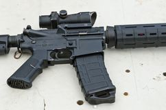 Assault rifle stock images