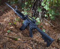 Assault rifle ready Royalty Free Stock Photo