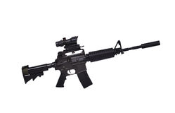 Assault rifle. On white background Royalty Free Stock Photography