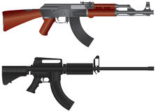 Assault Rifles Illustration Stock Images
