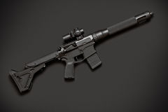 Assault semi-automatic rifle Stock Photo