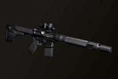 Assault semi-automatic rifle Stock Photo