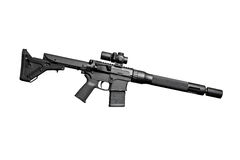 Assault semi-automatic rifle Royalty Free Stock Images