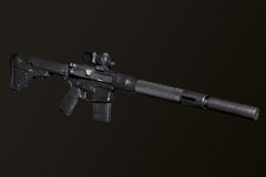 Assault semi-automatic rifle Royalty Free Stock Image