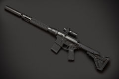 Assault semi-automatic rifle Stock Images