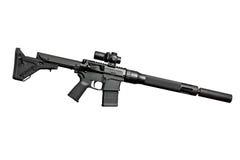 Assault semi-automatic rifle Stock Image