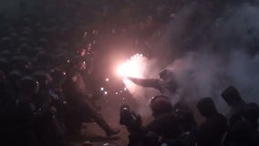 Assault. Ukraine. Kiev, protesters stormed the presidential administration
