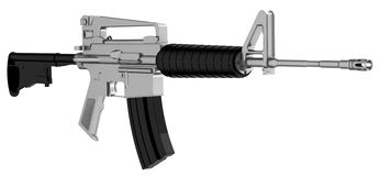 Assault weapon Stock Photo