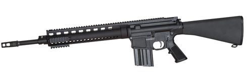 Assault weapon on white Stock Image