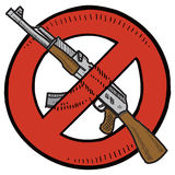 Assault weapons ban sketch Royalty Free Stock Photos