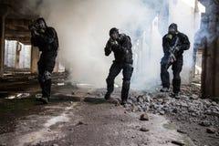 Assaut dans la fumée Photo libre de droits