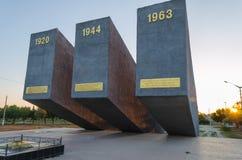 Assaut de trois Perekopa à l'aube Dans Krasnoperekopsk Photos libres de droits