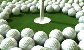 Assaut de trou de golf Photo stock