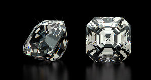 Asscher Cut Diamond Stock Photos