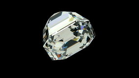 Asscher cut diamond stock video
