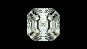 Asscher cut diamond stock video