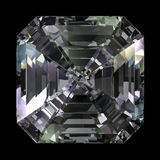 Asscher Cut Diamond top view Stock Image