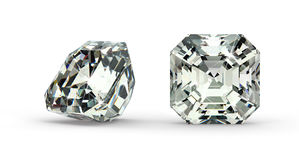 Asscher Cut Diamond Stock Photos