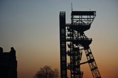 Asse di estrazione mineraria della miniera di Katowice Immagini Stock Libere da Diritti