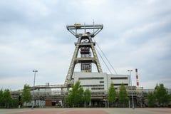 Asse di estrazione mineraria Il carbone è stato scavato sulla Slesia per anni Fotografie Stock