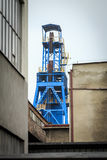 Asse di estrazione mineraria Il carbone è stato scavato sulla Slesia per anni Immagine Stock Libera da Diritti