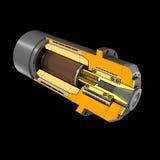 Asse di rotazione del motore (rappresentazione 3D) Fotografia Stock Libera da Diritti