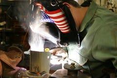 Asse e fumo della saldatura Fotografia Stock Libera da Diritti