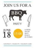 Asse o folheto do restaurante do menu, projeto do molde do BBQ invitation Inseto do menu do alimento Vetor ilustração royalty free