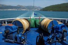 Asse posteriore della barca. fotografia stock