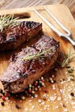 Asse Rib Eye Steak ou o bife de traseiro - seque o entrecote envelhecido de Wagyu foto de stock