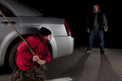 Assediador e vítima Foto de Stock