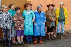 Assegnazione dei lavoratori migliori dell'industria agricola nella regione di Homiel'della Repubblica Bielorussa Fotografia Stock