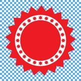 Assegni l'icona, l'icona rossa della guarnizione, autoadesivo illustrazione vettoriale