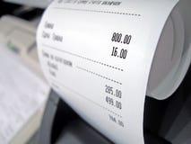 Assegno astratto del supermercato con i numeri, Immagini Stock