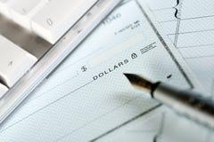 Assegno dei soldi Fotografia Stock Libera da Diritti