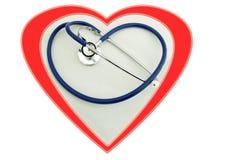 Assegno del cuore Immagine Stock