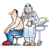 Assegno del medico royalty illustrazione gratis