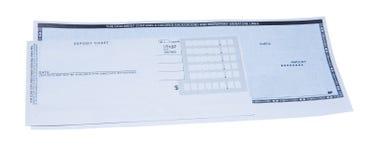 Assegno di deposito Immagine Stock Libera da Diritti