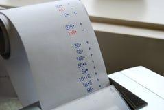 Assegno di stima Fotografia Stock