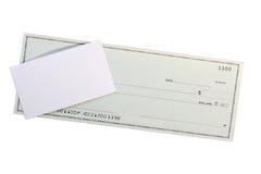Assegno e commercio una scheda Immagine Stock