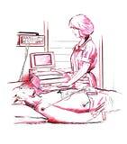 Assegno medico illustrazione vettoriale