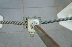 Asseguração do metal fotografia de stock