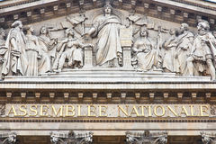 French National Assembly Front Building Stock Photography