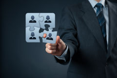Assemble a team. Concept. Business team, human resources cooperation, connection and unity concepts. Good team fit together like puzzle pieces stock images