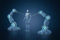 Assemblea robot del braccio royalty illustrazione gratis