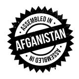 Assembled in Afganistan rubber stamp Royalty Free Stock Image